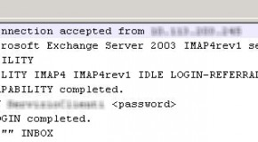 Exchange 2003: how to log IMAP sessions