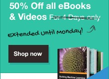 Packt's eBooks 50% off