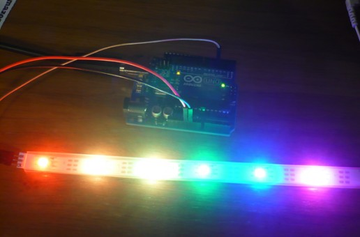 Playing with a led strip…