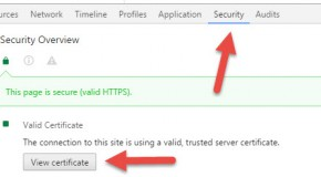 Google Chrome, how to display the website's SSL certificate