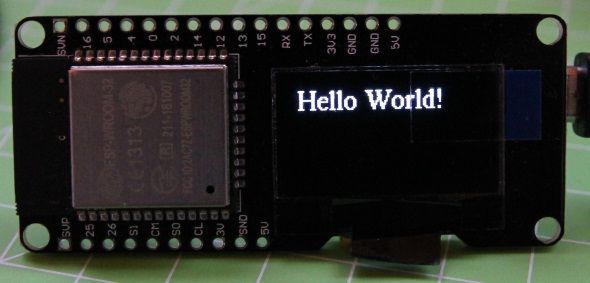 lucadentella it – ESP32 (25) – Oled display with U8G2