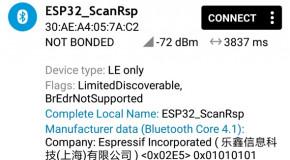 ESP32 (35) – BLE, scan response