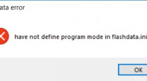 "JQ6500, ""flashdata error"""